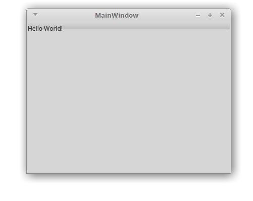 QtCreator MainWindow